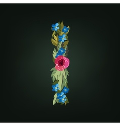 letter Flower alphabet Colorful font vector image