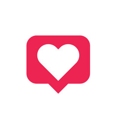 like comment message heart icon sign design vector image