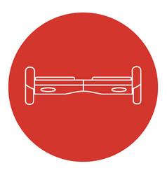 line art style gyroscope icon vector image