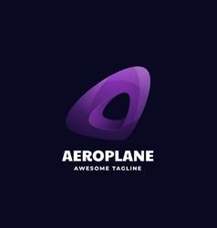 logo aeroplane gradient colorful style vector image