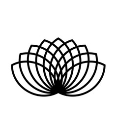 lotus plant symbol spa and wellness theme design vector image