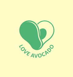 love avocado creative logo design vector image