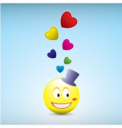loved smile vector image