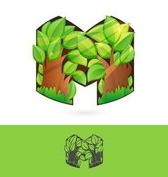 M letter volume logo vector image