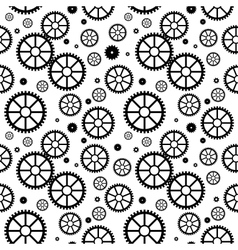 Mechanical wheels seamless vector image