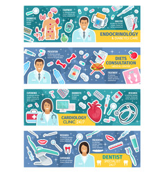 Medical consultation doctors or specialists poster vector