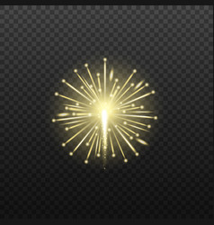 mockup firework explosion element realistic vector image