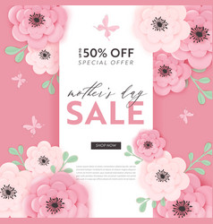 mothers day sale design spring discount banner vector image