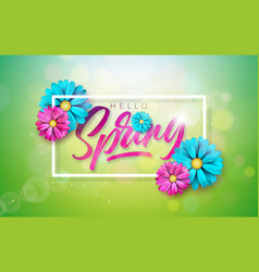 on a spring nature theme vector image