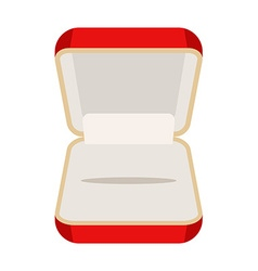 Open an empty box for jewelry Beautiful red box vector