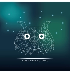 owl low poly vector image