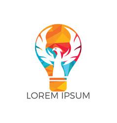 phoenix light bulb logo design vector image