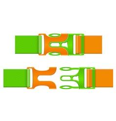 Plastic buckle clasp 04 vector