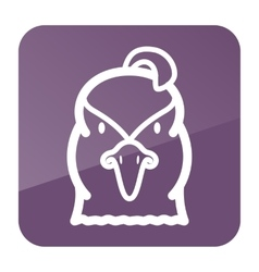 Quail icon animal head symbol vector