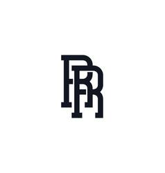 R monogram letter logo icon design vector