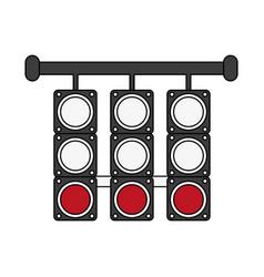 Racing semaphore lights vector