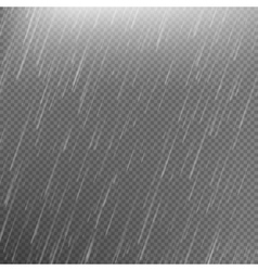 Rain transparent template background EPS 10 vector image
