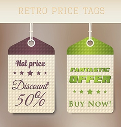 Retro Pricing Tabs vector