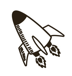 rocket launch start up business innovation image vector image