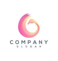 round swan logo vector image