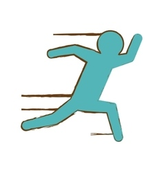 running man pictogram icon image vector image