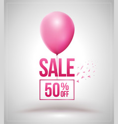Sale and balloon isolated vector