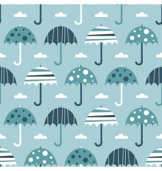 seamless umbrellas vector image