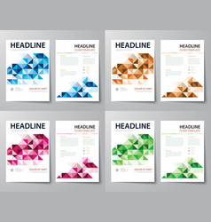 set of abstract business magazine cover flyer vector image