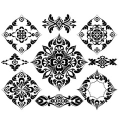 set of patterns for tattoo and other decorations vector image