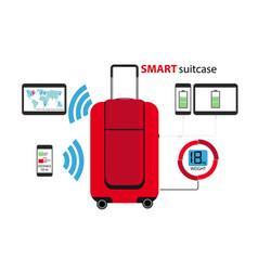 Smart suitcase vector