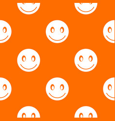 smiling emotpattern seamless vector image