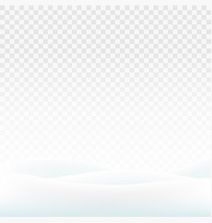 stock snowdrifts isolated on a vector image