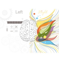 The left and right brain functions vector