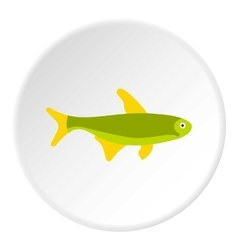 Trout fish icon flat style vector image