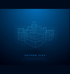 urban architecture cityscape with structure lines vector image