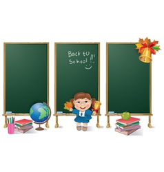 Vertical banners school board and school girl vector image vector image