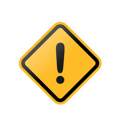 yellow exclamation danger sign vector image