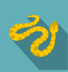 Yellow spotted snake icon flat style vector