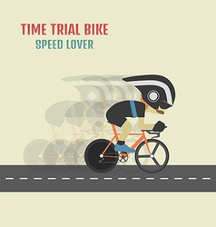 105time trial cyclist vector image vector image