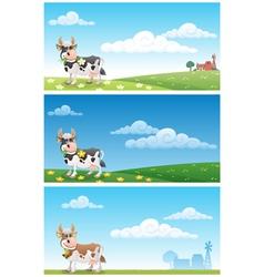 dairy farm vector image