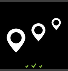 location way it is white icon vector image vector image