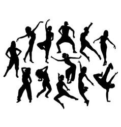 modern dancer expressive silhouette vector image vector image