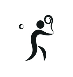 Tennis Icon monochrome on white background vector image vector image