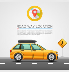 car travel on the location vector image vector image