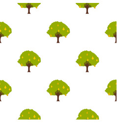 big tree with fruit pattern flat vector image