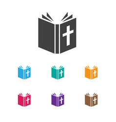 of faith symbol on bible icon vector image