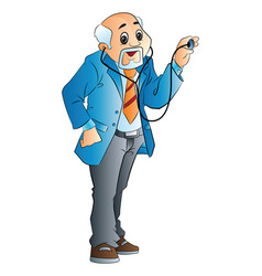 old male doctor vector image