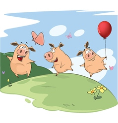 The Three Little Pigs vector image