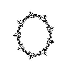 vintage border frame crest ornate decoration vector image