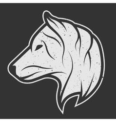 Wolf symbol logo for dark background vector